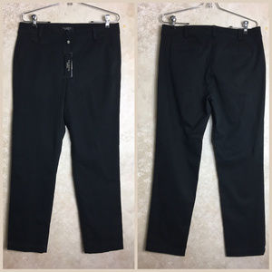 Talbots Size 10 Signature Black Pants NWT New